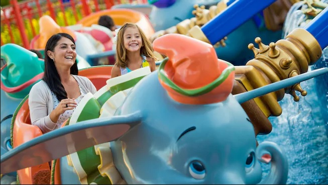 Dumbo the Flying Elephant is one of the top ride in Walt Disney World's Magic Kingdom