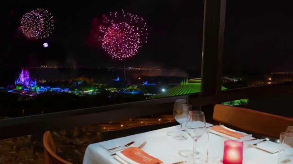 There's a great view of fireworks at the California Grill