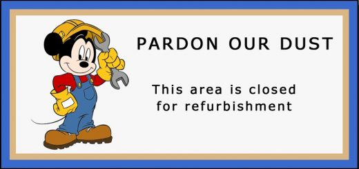 Pardon our dust Disney