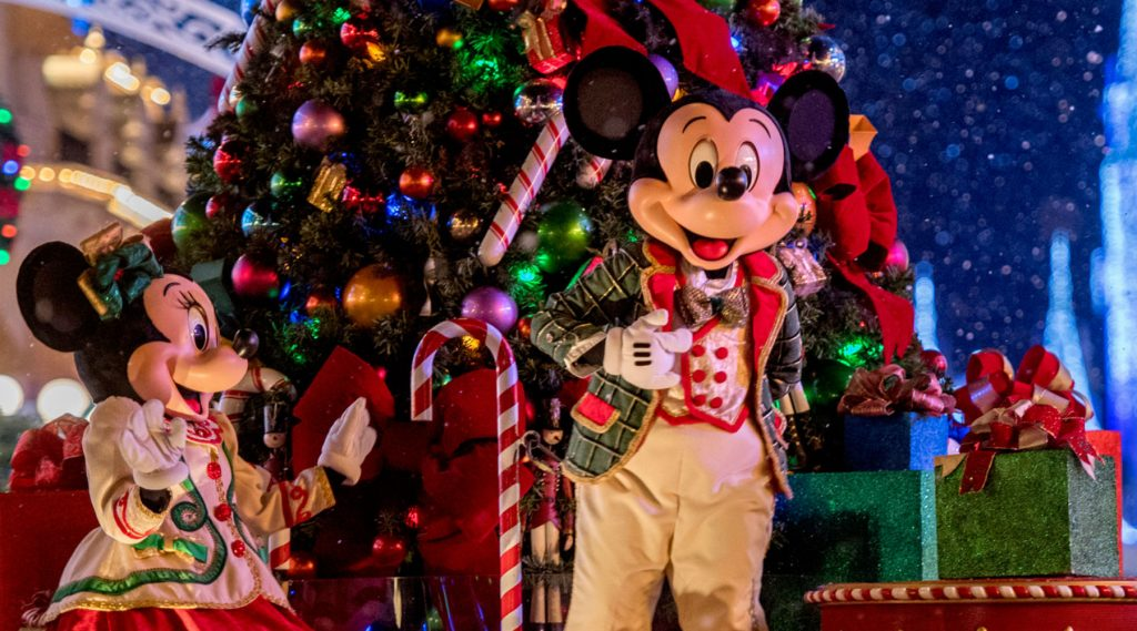 Christmas crowds at Disney