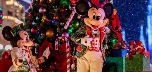 Christmas crowds at Disney
