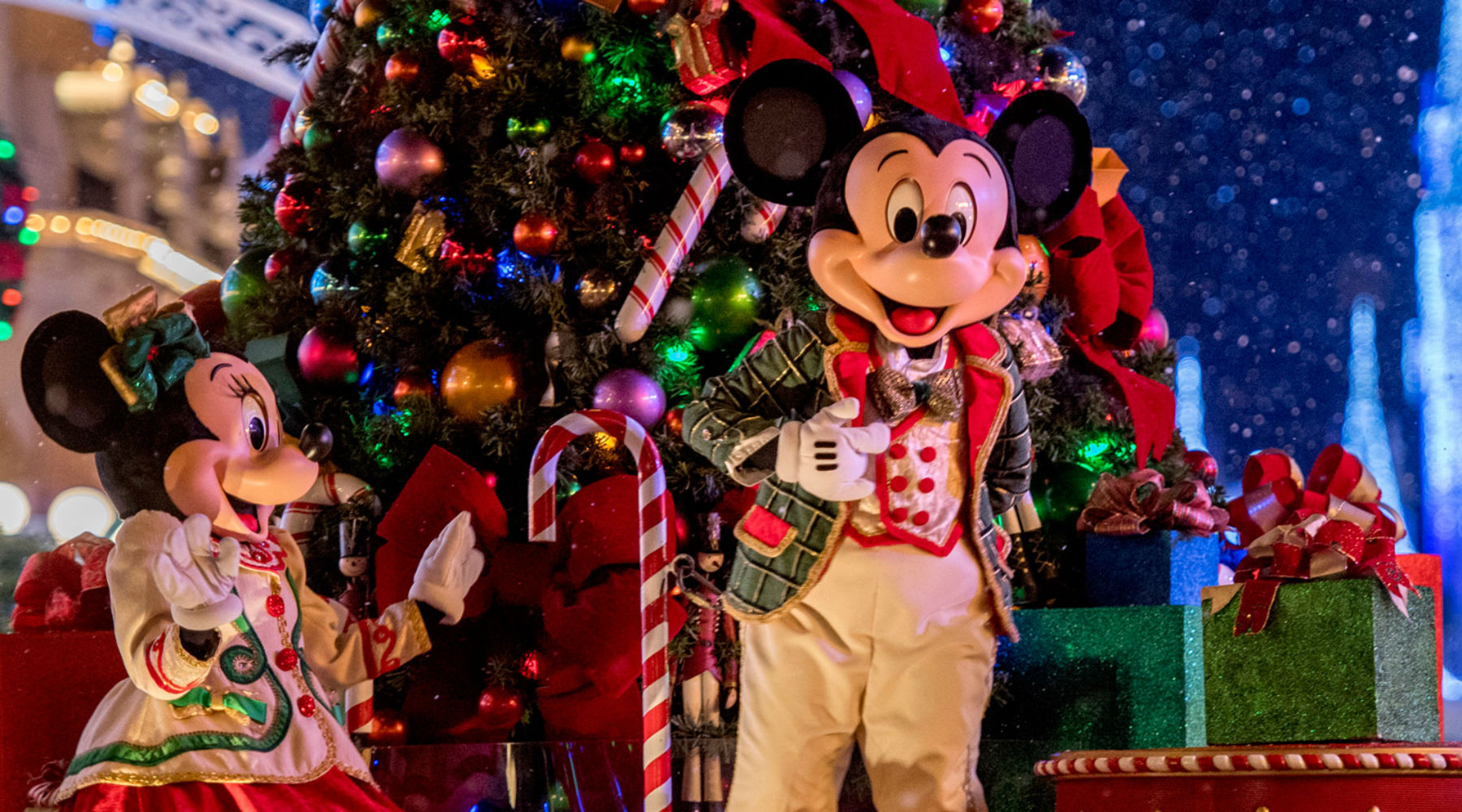 tips for dealing with christmas crowds at disney mickeyblogcom - When Does Disney World Decorate For Christmas 2017