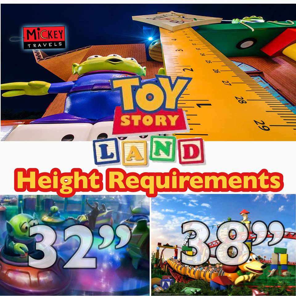 Toy Story Land Height Requiremens