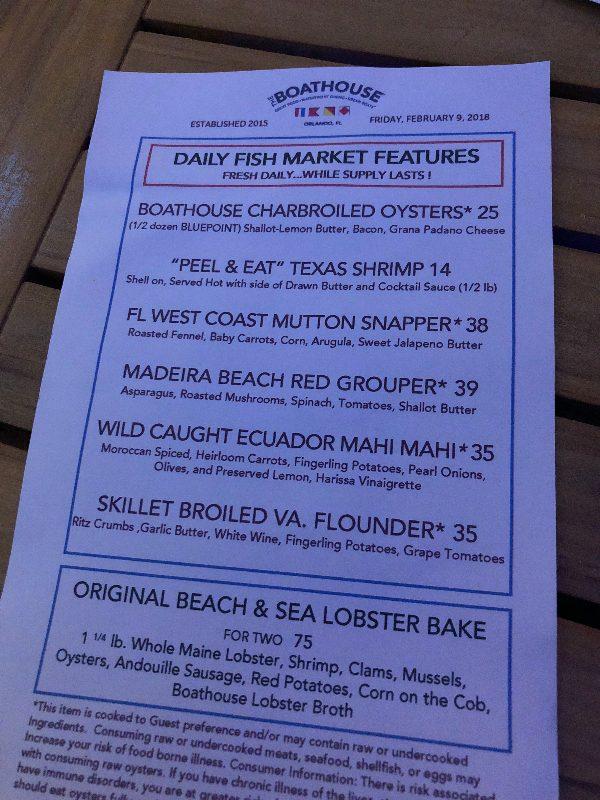 Seafood at Disney