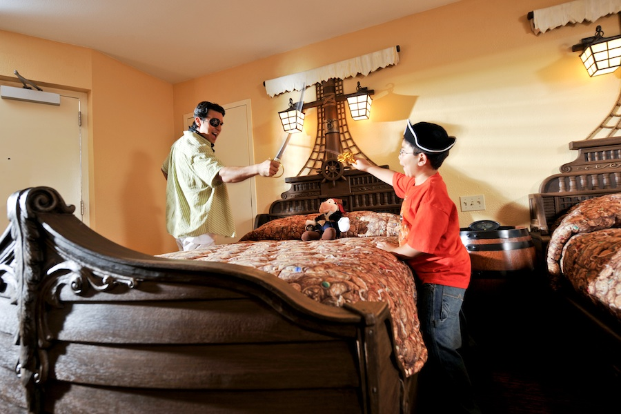 Pirate themed rooms at Disney