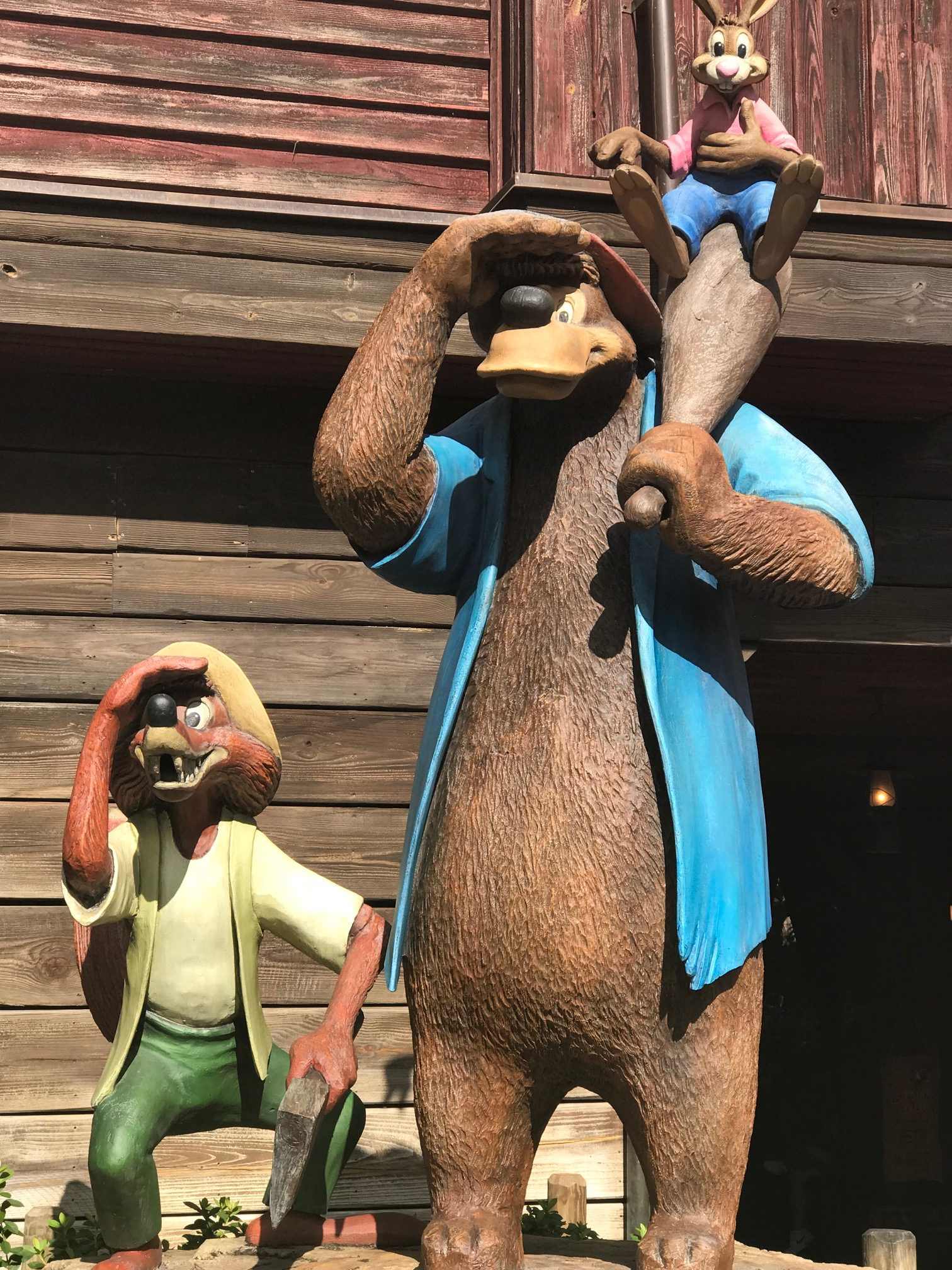 Splash Mountain characters