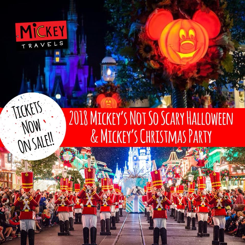 Disney halloween and christmas tickets