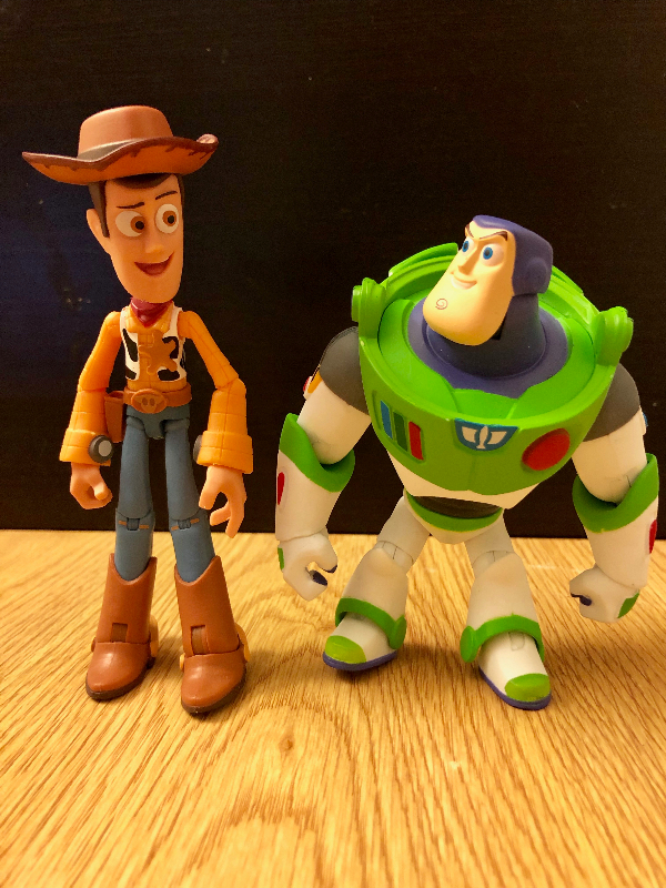 Woody and Buzz toys
