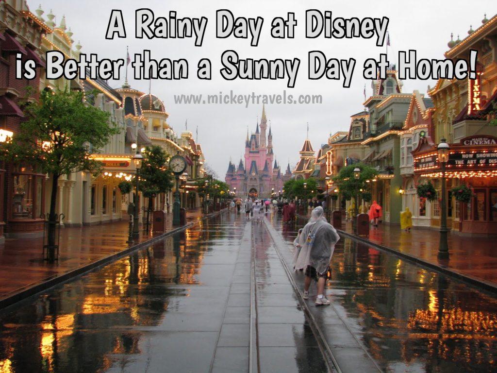 rain at Disney