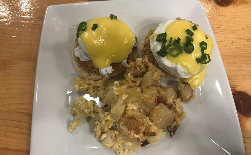 Eggs Benedict Olivia's Cafe