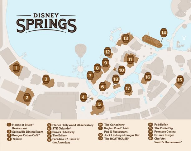 Disney Springs Bourban Trail