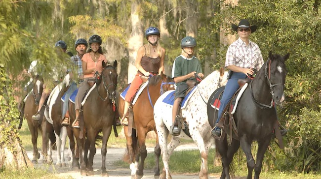 Horeseback Riding Wilderness Lodge