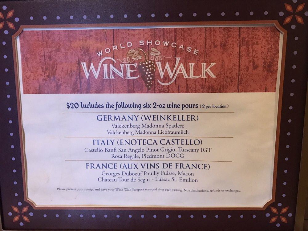 Wine Walk Epcot
