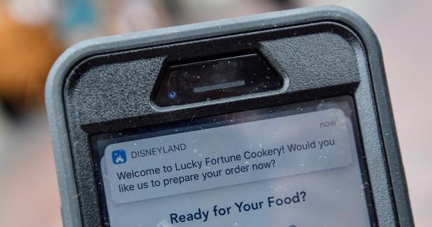 Disneyland mobile ordering