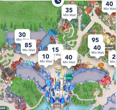 My Disney Experience Wait time