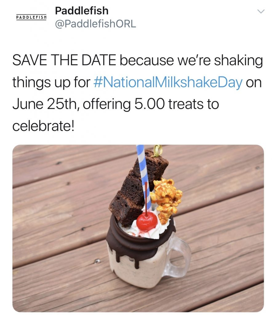 National Milkshake Day at Disney