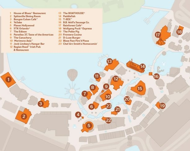 Brews & BBQ Map Disney Springs
