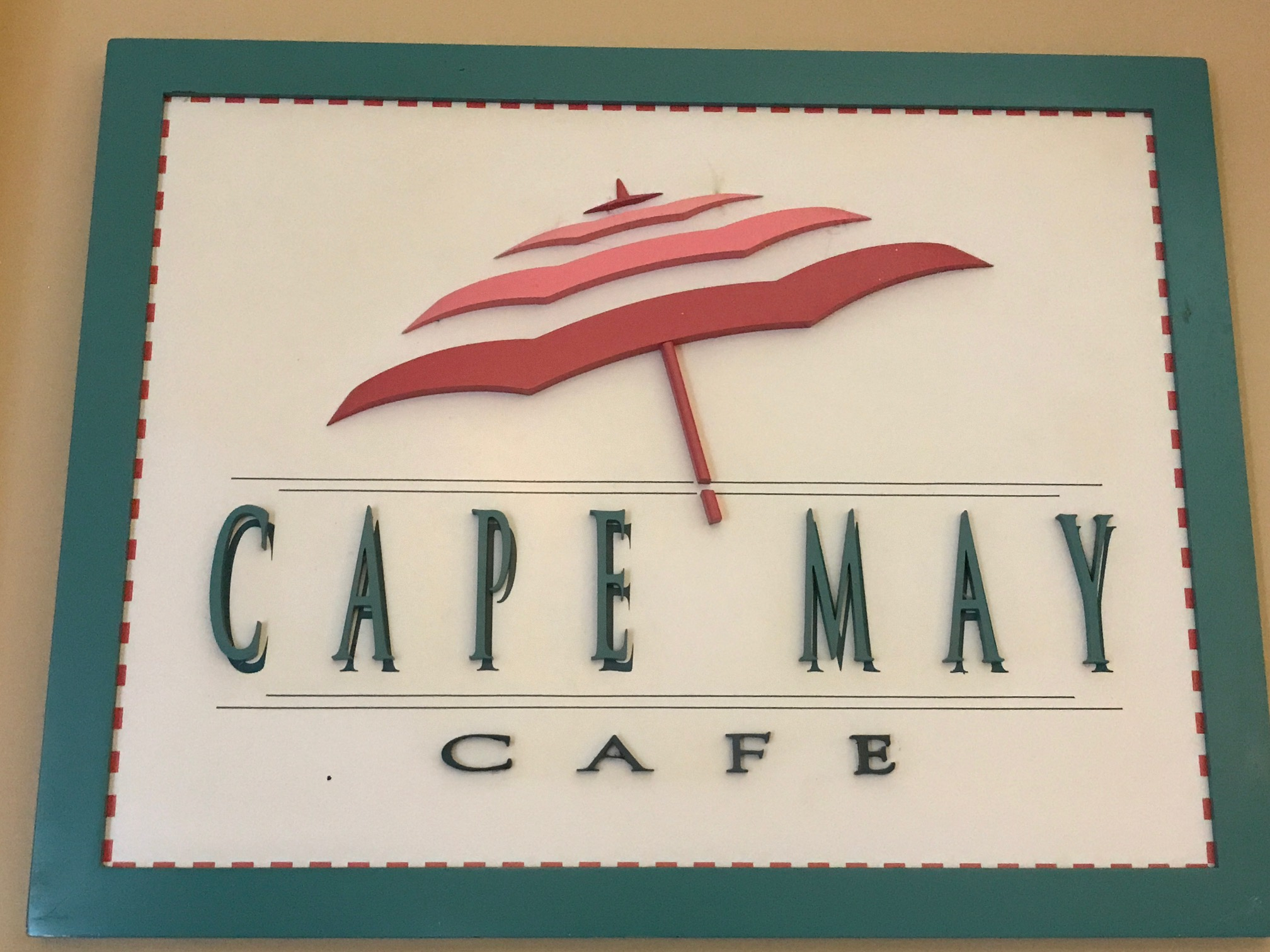 Cape May Cafe sign