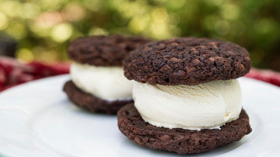Double Chocolate Ice Cream Sandwich