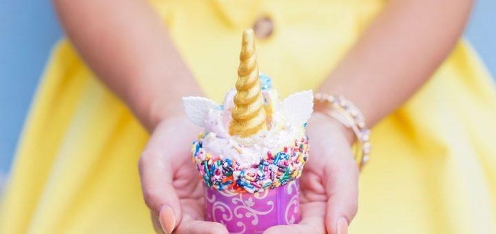 Iridescent Disney cupcakes