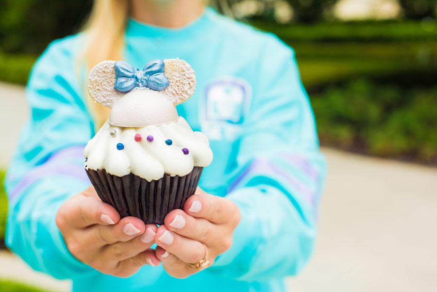 Disney iridescent cupcake