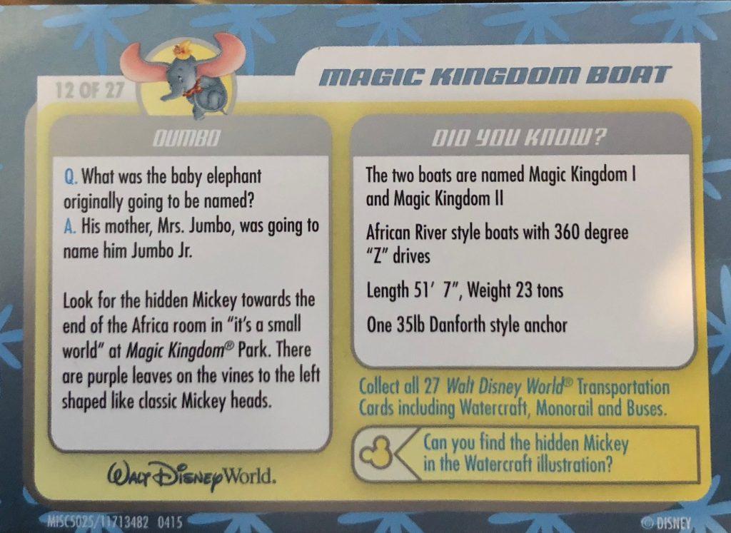 Disney Transportation cards