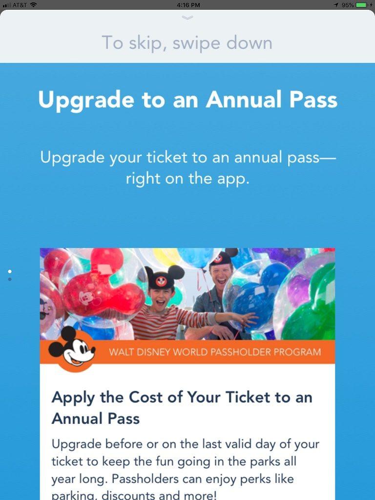 My Disney Experience Upgrade