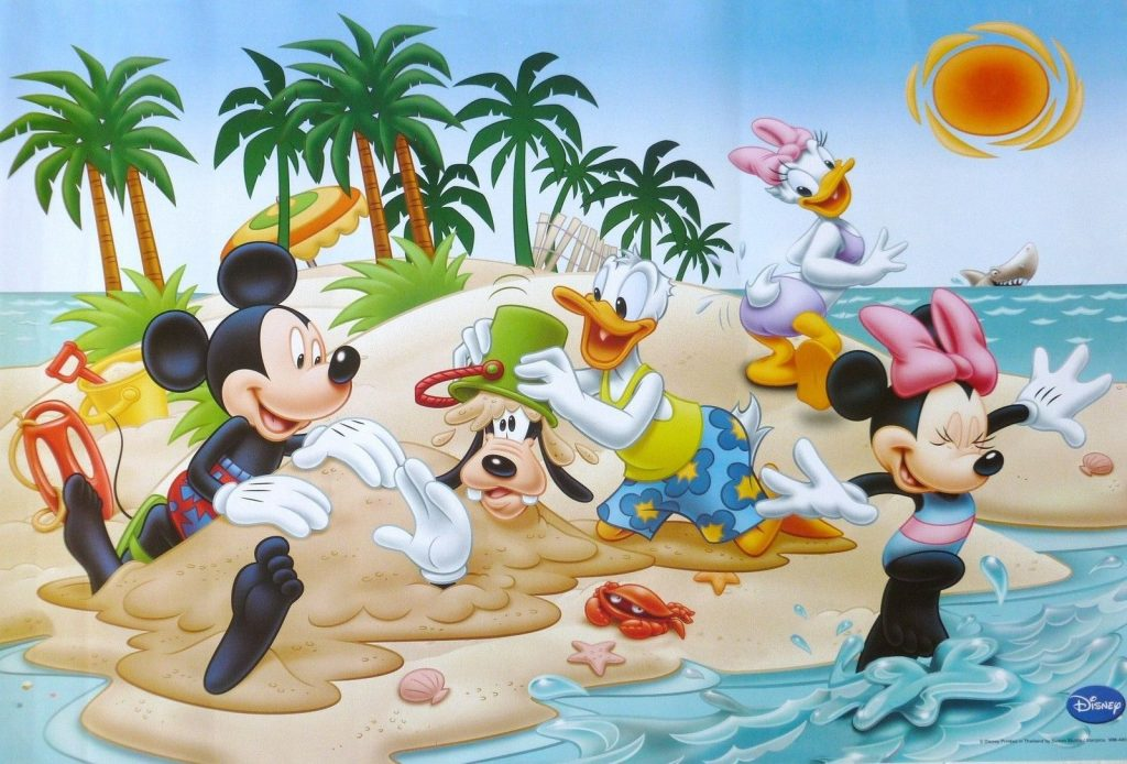 Mickey and friends beach