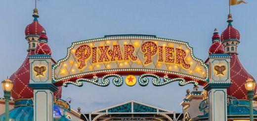 Pixar Pier sign