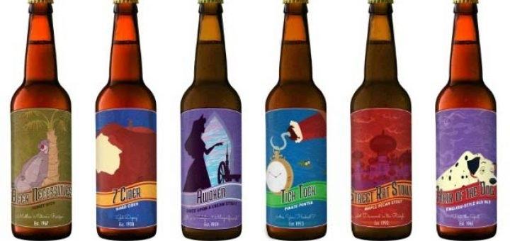 Disney beer bottles