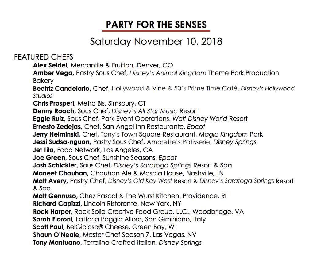 Party for the senses