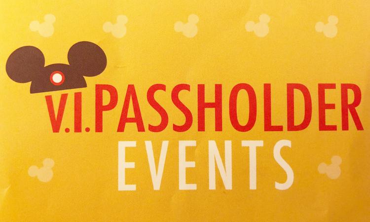 VIP Passholder Events