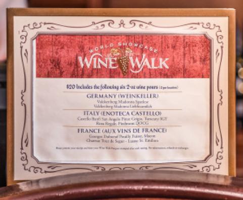 Disney Wine Tastings