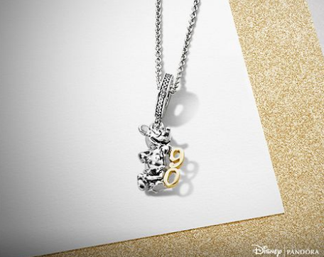 Mickey's 90th anniversay pandora charm