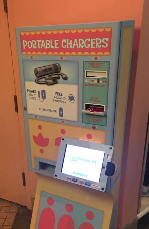 Portable chargers at Disney