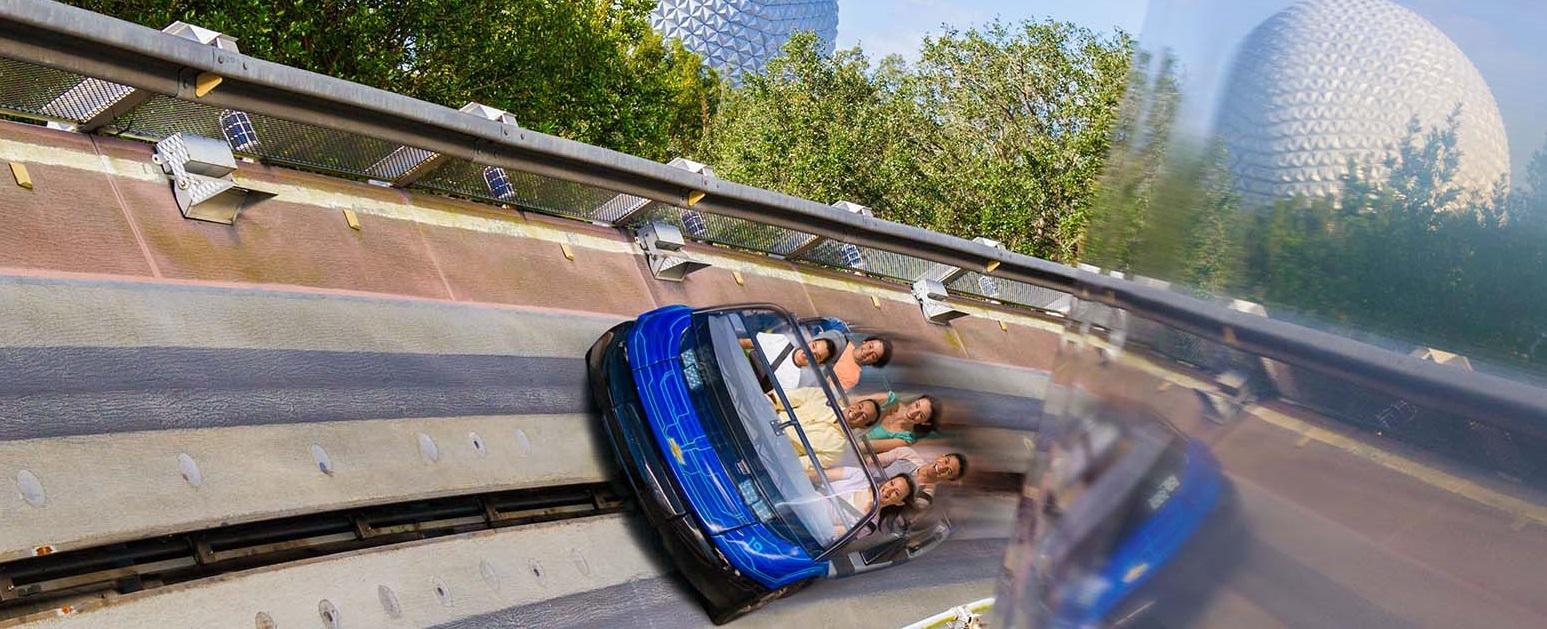 ride carts at Disney