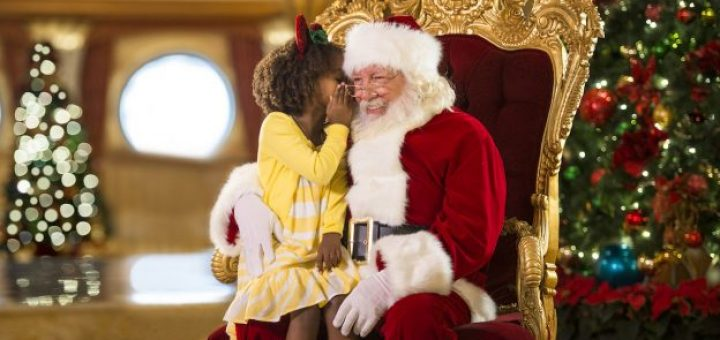 disney cruise line is ready for the holidays with this throwback santa video - Disney Christmas Cruise