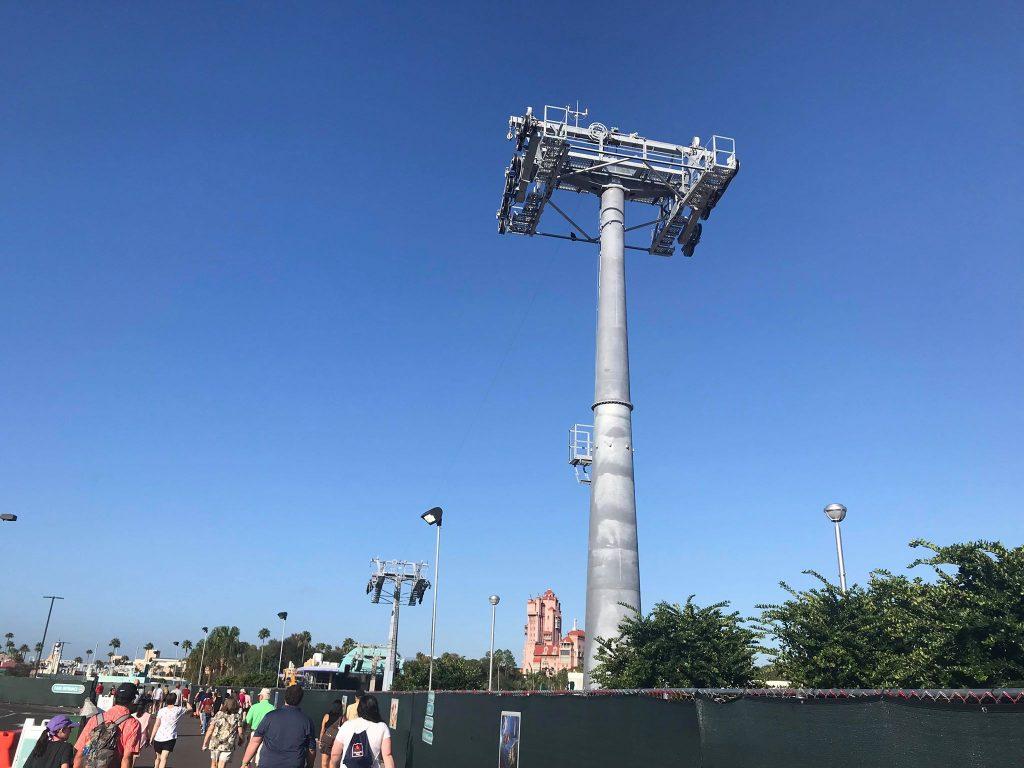 Hollywood Studios skyliner construction
