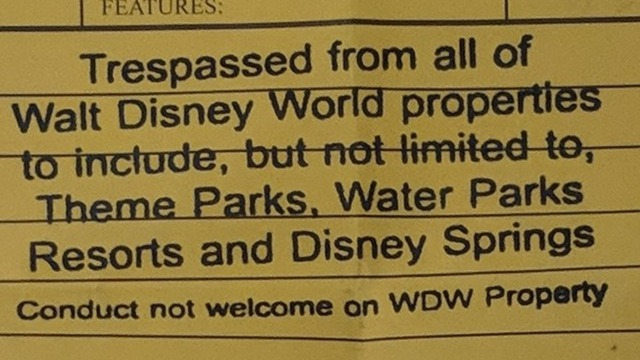 Banned from Disney
