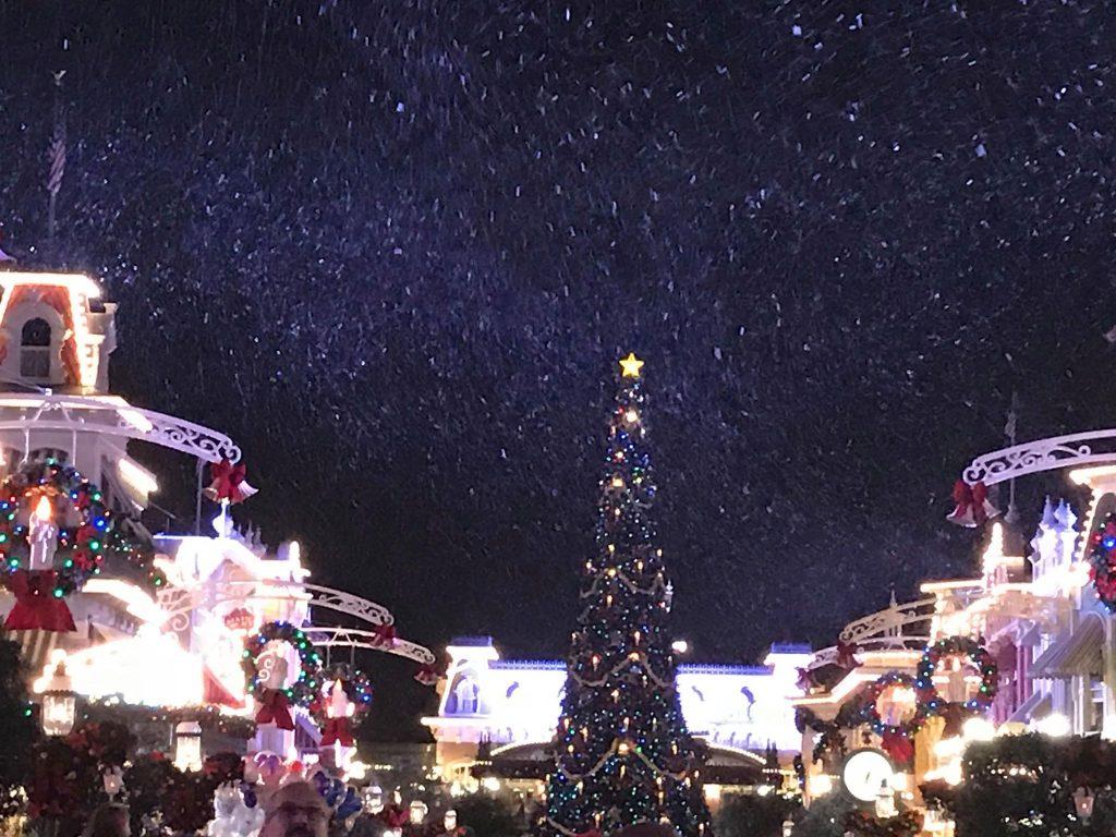 Snowing on Main Street