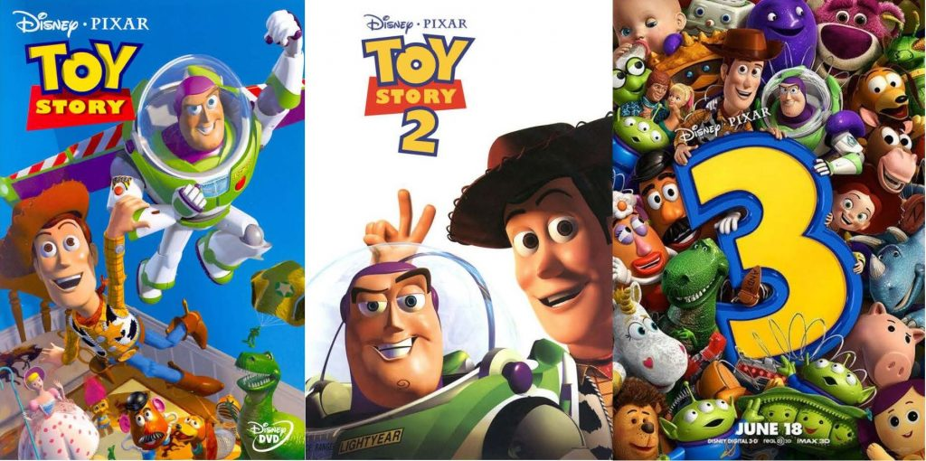 Toy Story 1, 2 & 3