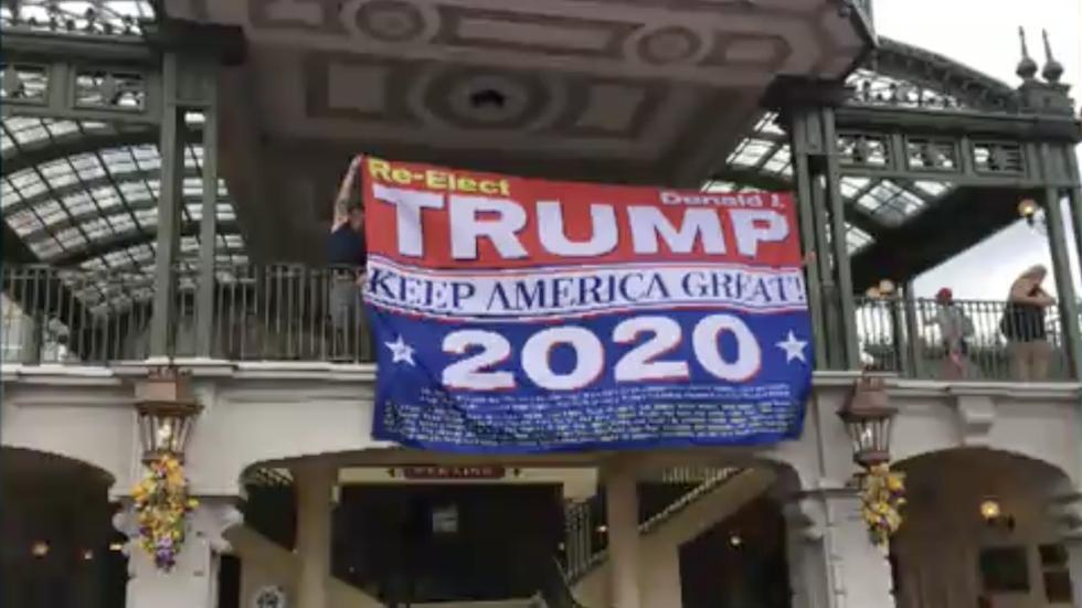 Trump sign at Disney