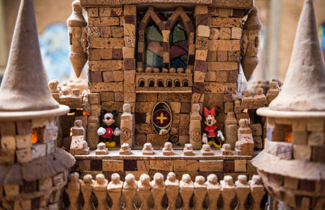 Cinderella Castle made out of corks