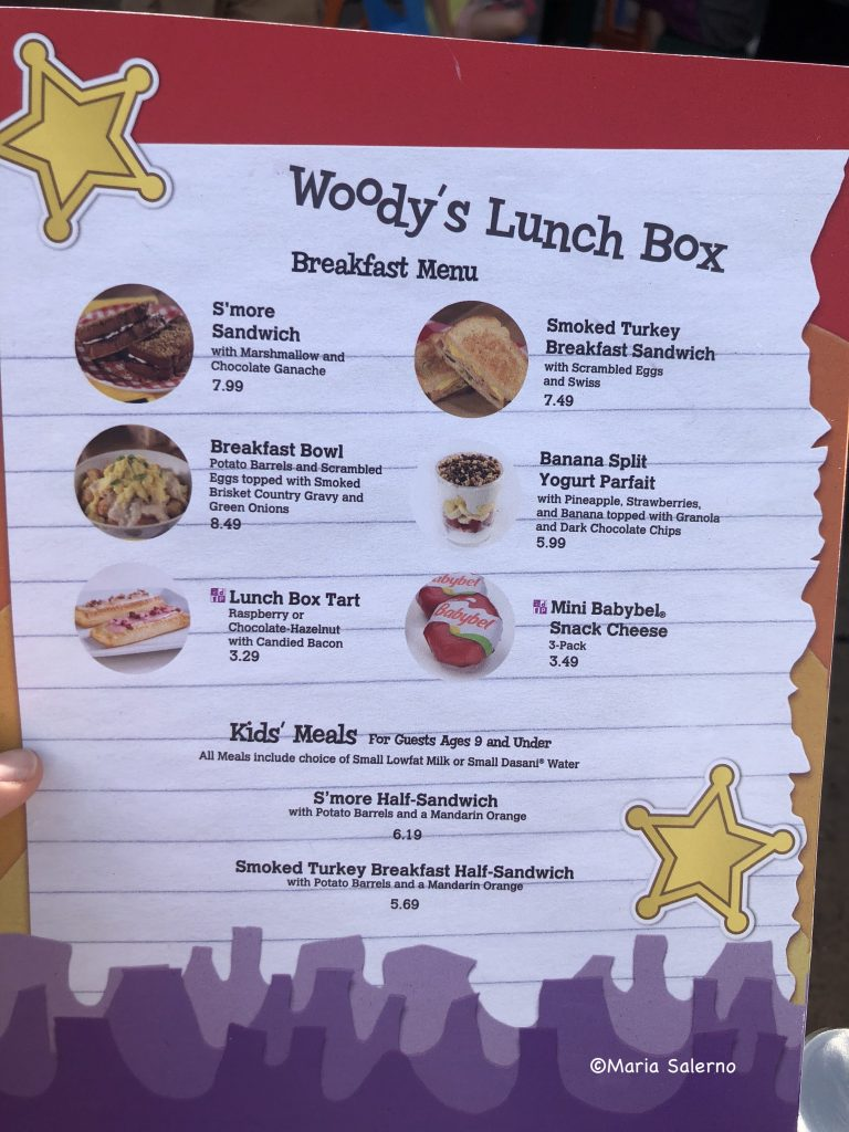 Woody's lunchbox breakfast review