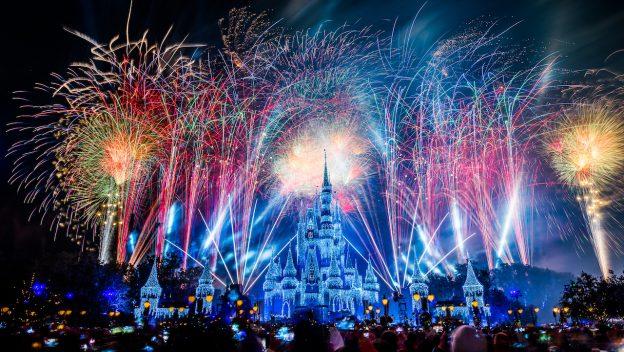 New years Eve Outside Magic Kingdom