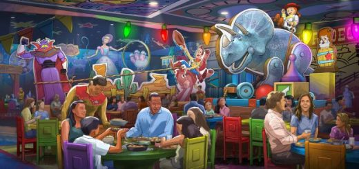 table service restaurant Toy Story Land