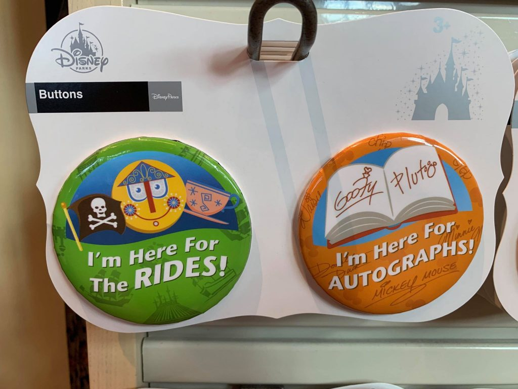 New Celebration Buttons at Disney Springs
