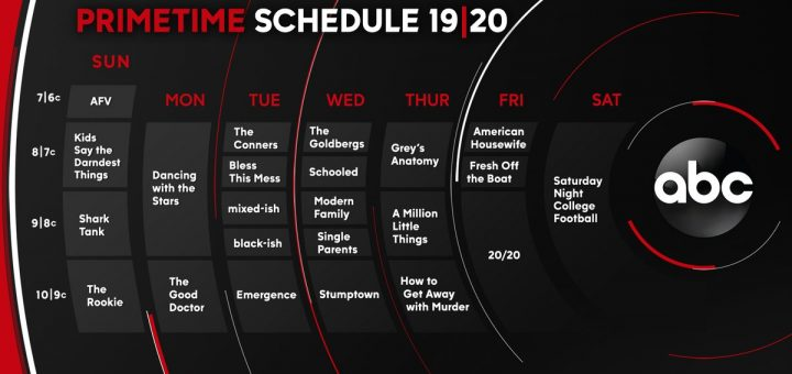 ABC Prime Time Schedule