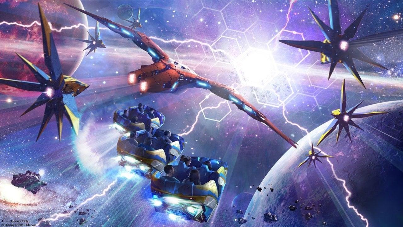 Guardians Cosmic Rewind Coaster