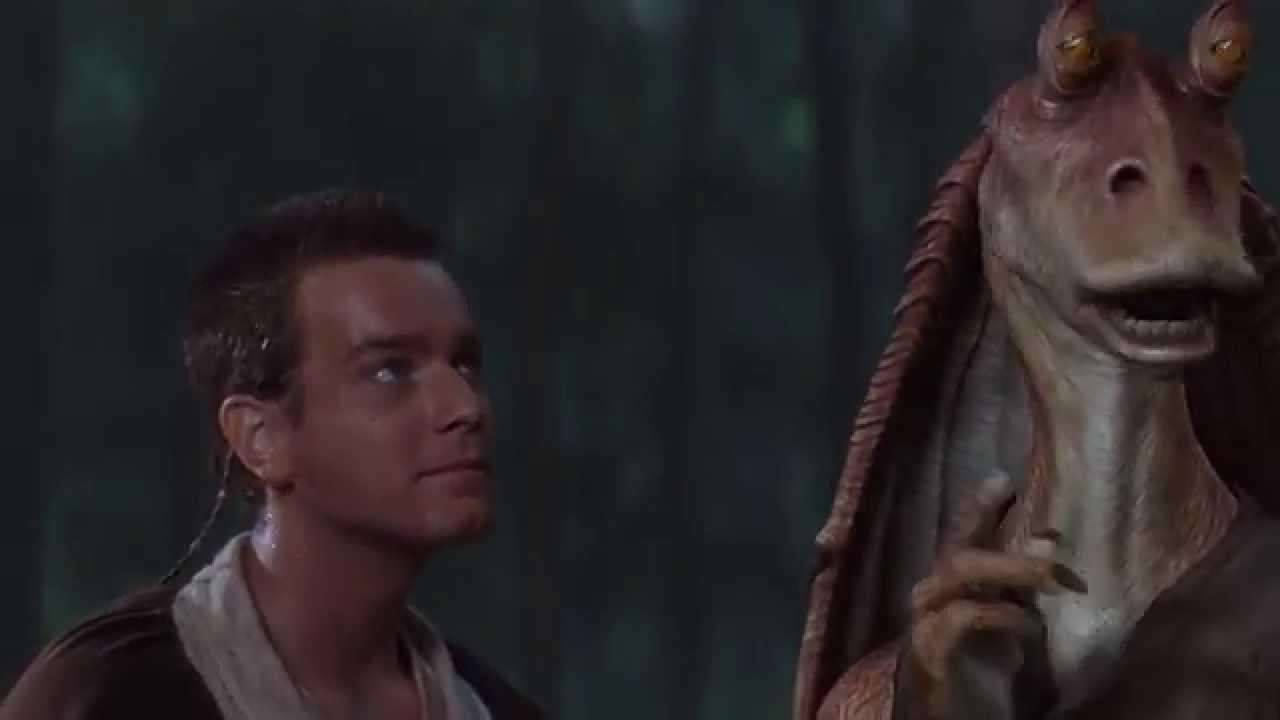 Jar Jar, Obi-Wan